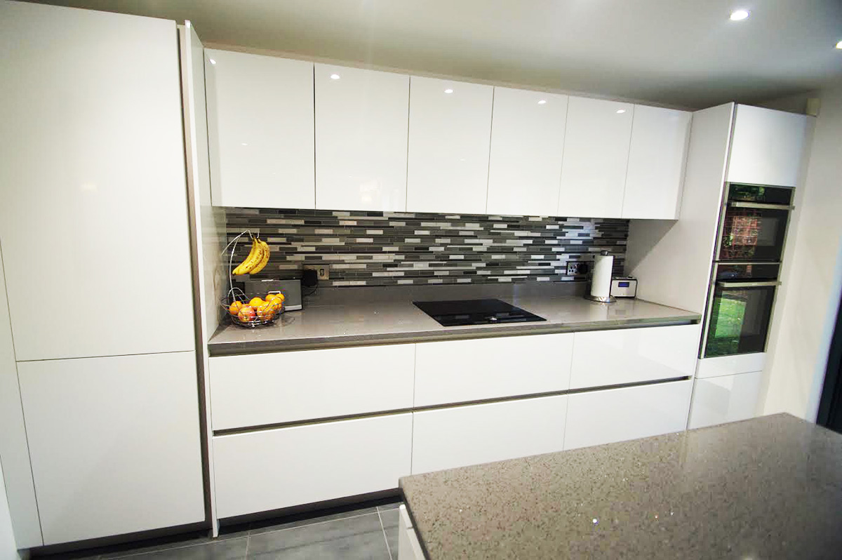 Grey Sparkle, Chicstone worktops fitted in Ellesmere Park, Eccles, Manchester